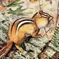 Fuertes, Louis Agassiz 1874-1927 - Burgess Animal Book For Children 1920 Striped Chipmunk by Louis Agassiz Fuertes