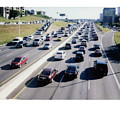 Fujifilm Instax Instant-film Picture Of Ih-35 Rush Hour Traffic  by Herronstock Prints