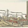 Fukagawa Bedrijventerrein  Maekawa Senpan  1945 by Fukagawa bedrijventerrein  Maekawa Senpan