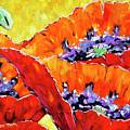 Full Bloom Poppies By Prankearts Fine Art by Richard T Pranke
