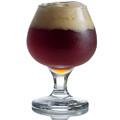 Full Draft Dark Beer In Glass Goblet  by Thomas Baker