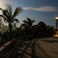 Full Moon And Lighthouse, Sanibel Island, Florida  -260033 by John Bald