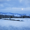 Full Moon Over A Field Of Snow by Belinda Greb
