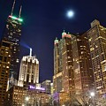 Full Moon Over Chi Town by Frozen in Time Fine Art Photography