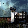 Full Moon Over Hard Time San Quentin California State Prison 7d18546 V2 Long by Wingsdomain Art and Photography