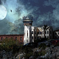 Full Moon Over Hard Time San Quentin California State Prison 7d18546 V2 by Wingsdomain Art and Photography