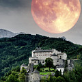 Full Moon Over Hohen Werfen by Wolfgang Stocker