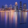 Full Moon Over Louisville by Frozen in Time Fine Art Photography