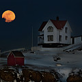 Full Moon Over Nubble by Jonathan Steele