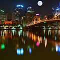 Full Moon Over Pittsburgh by Frozen in Time Fine Art Photography