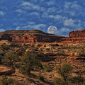 Full Moon Over Red Cliffs by Mitch Johanson