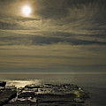 Full Moon Over Seawall by Jack Goldberg