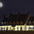Full Moon Over Whalehead by Dennis Kowalewski