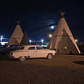 Full Moon Over Wigwam Motel by Robert J Caputo