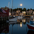 Full Moon Rising Over Motif  Number 1 Rockport Ma Moonrise by Toby McGuire