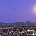 Full Moon Rising Over Silver City, New by Alan Dyer