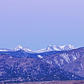 Full Moon Setting Over The Colorado Rocky Mountains by James BO  Insogna