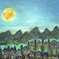 Full Moon Village by Martha Dolan