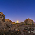 Full Moonrise At City Of Rocks State by Alan Dyer