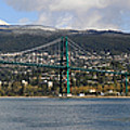 Full View Of The Lion's Gate Bridge Vancouver City  by Pierre Leclerc Photography