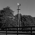 Full Windmill In Bw by Doug Camara
