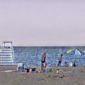 Fun At The Beach by Louis Perlia