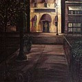 Funeral Home At Night by Christopher Buoscio