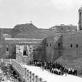 Funeral Procession In Bethlehem During 1934 by Munir Alawi