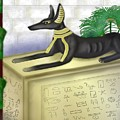 Funerary Anubis by Mike Sexton