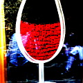 Funky French Red Wine Glass by Funkpix Photo Hunter