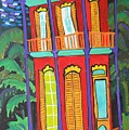 Funky Red House In New Orleans by Linda MorganSmith