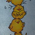 Funny Chickens by Tatiana  Antsiferova