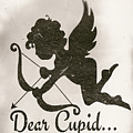 Funny Cupid Art - Vintage Love Quotes Art Typography by Wall Art Prints