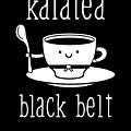 Funny Karate Design Karatea Black Belt White Light by J P