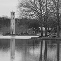 Furman Bell Tower 3 Bw by David Waldrop
