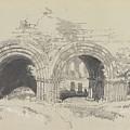 Furness Abbey East  29 August 1836 By Edward Lear  1836 by Edward Lear