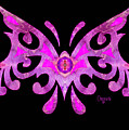 Fuschia Tribal Butterfly Abstract Macro Transformations By Omash by Omaste Witkowski