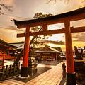 Fushimi Inari Taisha Shrine In Kyoto by Luciano Mortula