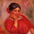 Gabrielle In A Red Blouse 1896 by Renoir PierreAuguste