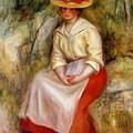 Gabrielle In A Straw Hat 1900 by Renoir PierreAuguste