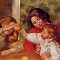 Gabrielle Jean And A Little Girl by Renoir PierreAuguste