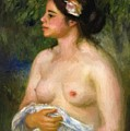 Gabrielle With A Rose The Sicilian Woman by Renoir PierreAuguste