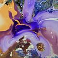 Galactic Portal. Abstract Fluid Acrylic Pour by Jenny Rainbow
