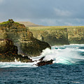 Cliffs At Suarez Point, Espanola Island Of The Galapagos Islands by Kenneth Lempert