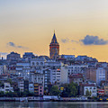 Galata Tower In The Morning. by Mohamed Elkhamisy