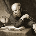 Galileo With Compass And Diagrams by American School
