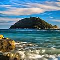 Gallinara Island - Isola Della Gallinara Paint by Enrico Pelos