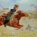 Galloping Horseman by Frederic Remington
