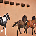 Galloping Horses Mural - Taos by Stuart Litoff