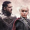 Game Of Thrones. Jon Snow And Daenerys Targaryen by Nadezhda Zhuravleva